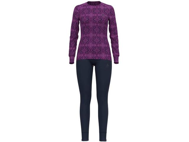 Odlo Active Warm Eco Long Winter Specials Set, hyacinth violet graphic20/diving navy